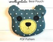 PDF Pattern Zippered Bear Pouch