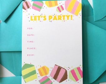 Cake Party Invitation