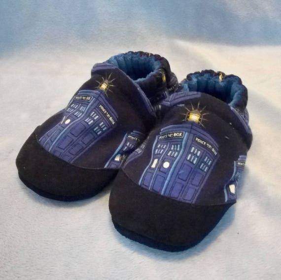 Tardis: Soft Sole Baby Shoes 12-18M