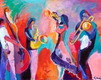 Jazz Ensemble - Abstract Fine Art Print by Jenlo