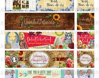 Etsy Cover Banner, Etsy Shop Banner, Custom Cover Photo, Etsy Banner Design, Shop Banner Design, Rustic Shop Banner, Custom Etsy Graphics