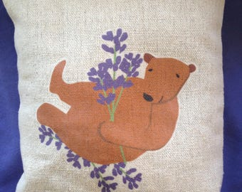 Sweet little Lavender Pillow choose Bear or Fox design