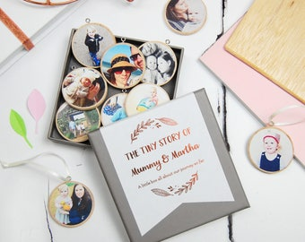 Personalised Mummy And Me Photograph Keepsakes - Mother's Day Decoration Gift Box - New Baby Personalised Baubles - Mummy And Child Keepsake