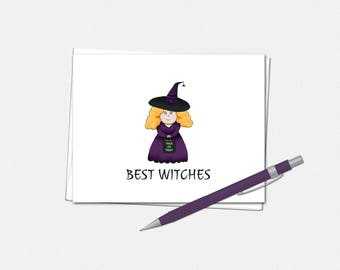 Halloween Card - Best Witches Halloween Card - Best Witches Card - Halloween Greeting Card - Cute Halloween Card - Witch Halloween Card