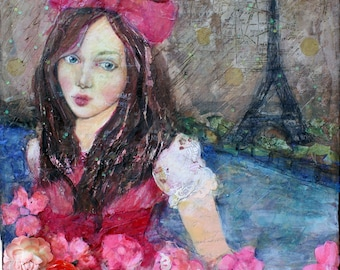 November Rain - Original 12 x 12 Painting By Suzi Blu