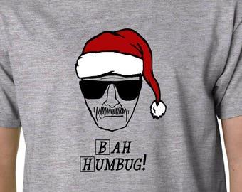Bah Humbug (Breaking Bad) t-shirt // Xmas  Christmas Walter White Heisenberg GEEK FUNNY QUOTE