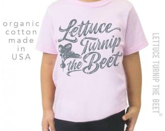 ORGANIC lettuce turnip the beet ® trademark brand OFFICIAL SITE - light pink farmers market shirt
