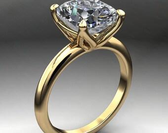 natalie ring - 2.8 carat elongated cushion cut ZAYA moissanite engagement ring