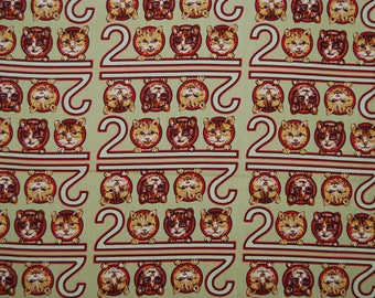 Quilt fabric Cats 2000 prints OOP novelty cotton cats by Nancy Crow for Kent Avery