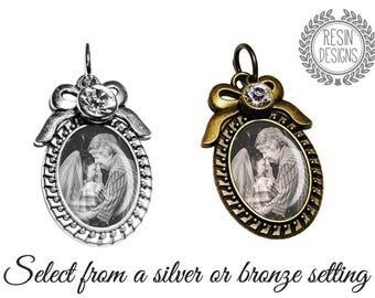Wedding Bouquet Charm, Memorial Charm, Photo Charm, Personalized, Memory Charm, Bouquet Brooch, Bridal Gift, Brooch, Custom, Bridal Bouquet