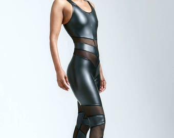 Matte Leatherette Black Portal Suit for the Witchy Star Being in You