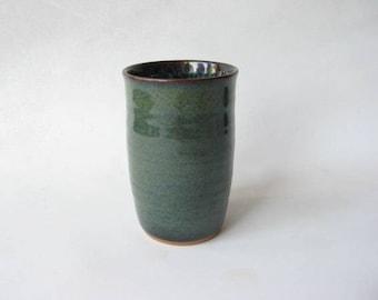 Pottery Tumbler 8 oz, Ceramic Tumbler, Single Pottery Tumbler, Stoneware