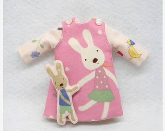 LADYBIRD HOUSE Blythe Outfit Rabbit Dress - Pink