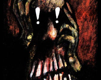 Anxiety signed art print by Mister Reusch