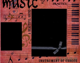 Music - 12x12 Premade Scrapbook Page