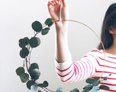 Modern Wreath | Eucalyptus Wreath | Scandinavian Wreath | Minimalist Wreath | DIY Spring Wreath | Christmas Holiday Wreath | DIY Kit