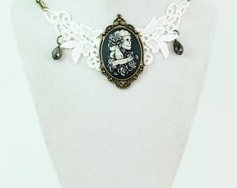 Day of The Dead Bride  - Couture Choker