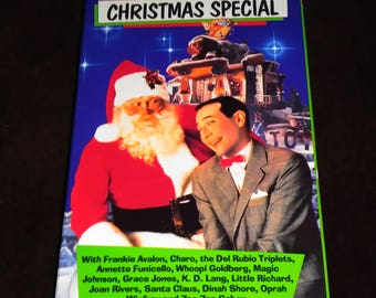 Pee-Wee's Playhouse Christmas Special VHS Tape 1980s Children's VHS Pee-Wee's Playhouse VHS 1980s Notostgi vhs