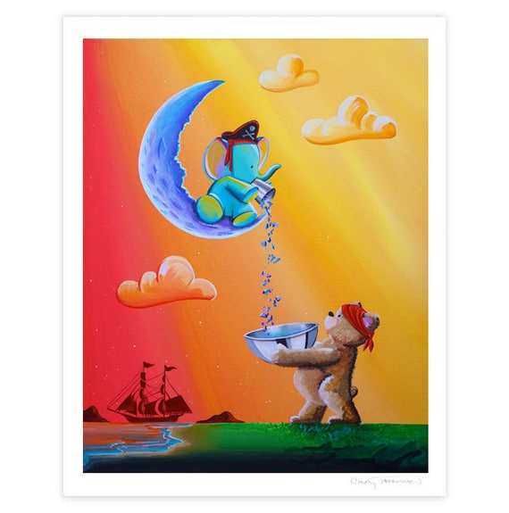 Animals & Whimsy Limited Edition - Moon Pirates - Signed 8x10 Semi Gloss Print (2/10)