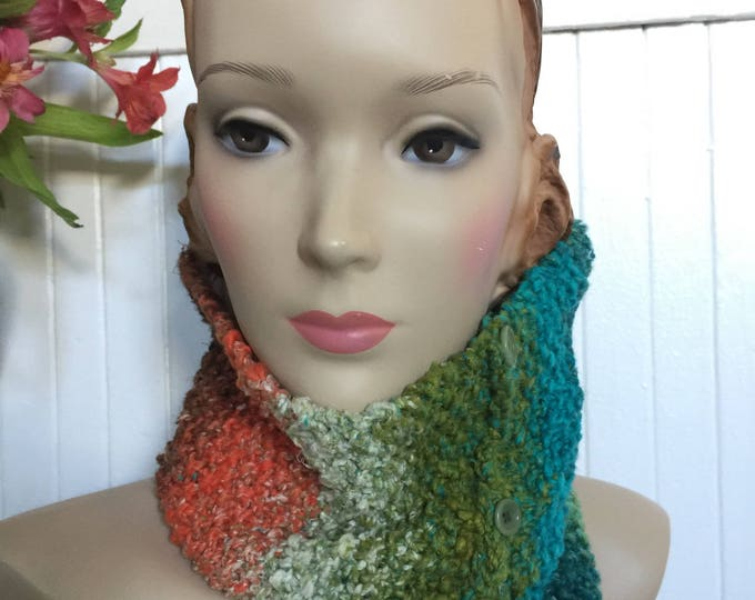 Woolpops Hand Knit Tidepools Pullover Scarf