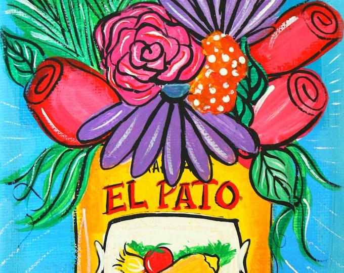 El Pato Can Floral Print