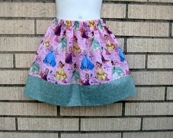 Disney skirt, Disney Princess skirt, Belle, Rapunzel, Snow white, Sizes 6M to size 8