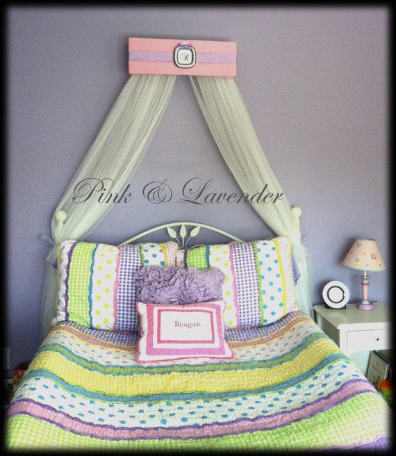 Bed Crown Canopy Crib Crown Nursery Design Wall Decor: Bed Crown Canopy Lavender Pink Teester Nursery Crib Decor