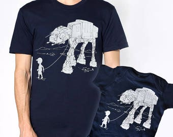 My AT-AT Pet Father Son Matching Shirts, daddy and son, daddy's girl set, Father's day gift,dad matching t-shirts,star wars gift for husband