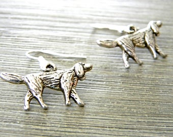 Irish Setter Earrings Silver Color Dangle Earrings Dog Earrings