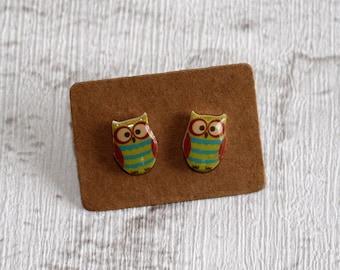 Owl Earrings, Teeny Tiny Earrings, Owl Jewelry, Cute Earrings