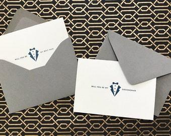 Will you be my Best Man/Groomsman? - Letterpress Card