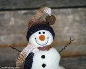 Needle Felt Snowman - Needle Felted Snowman - Christmas Snowman - Christmas Decoration - Christmas Decor -  Wool Snowman - Winter Décor -953