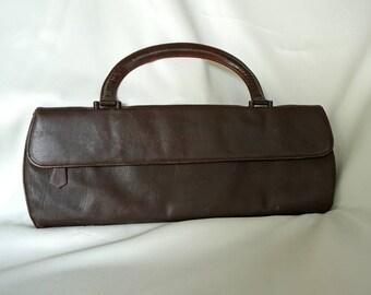 lennox bags vintage. lennox stylish extra long vintage brown purse with single top handle lennox bags