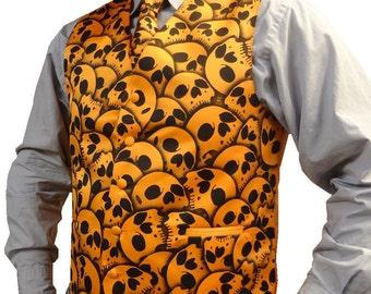 RokGear Skull design Men's formal vest custom skull vest waistcoat - LIMITED RokGear design