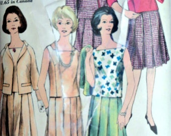 Vintage 60's Vogue 4303 Special Design Sewing Pattern, Misses Suit, Size 18 38 Bust, Mad Men Mod 1960's Fashion