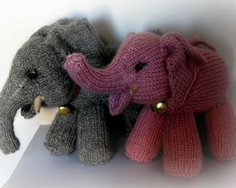 Knitted Elephant Pattern - PDF Instant Download