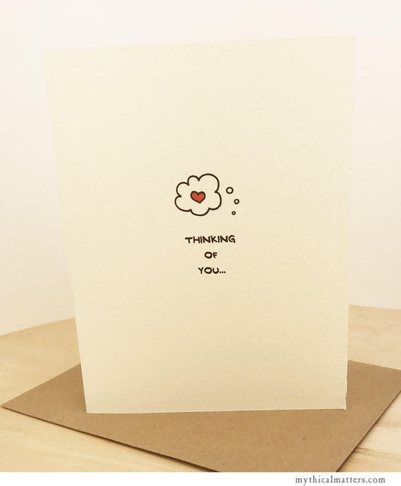 Thinking Of You Thought Bubble Greeting Card Cute Adorable Kawaii paper textured made in Canada made in Toronto thinking of you enfrancais