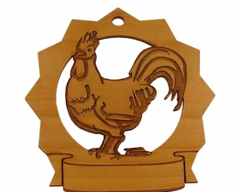 Rooster Personalized Ornament