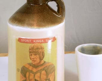 Red Grange small jug moonshine whiskey handmade