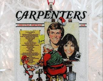Carpenters - Christmas Portrait Album Cover Glass Ornament