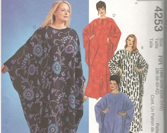 McCalls 4253  Womens Very Loose Fitting Pullover Caftan and Pants Pattern Full Figure Sewing Pattern Size 18 20 22 24 Bust 36 38 40 42 UNCUT