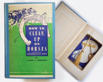 1940s Gag Gift Book How To Clean Up On Horses Hollowed Out Hardcover Book Souvenir of Cumberland MD Men Without Country Funny Novelty