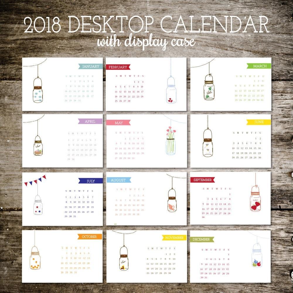 Office Calendar 2018 : Desk calendar office