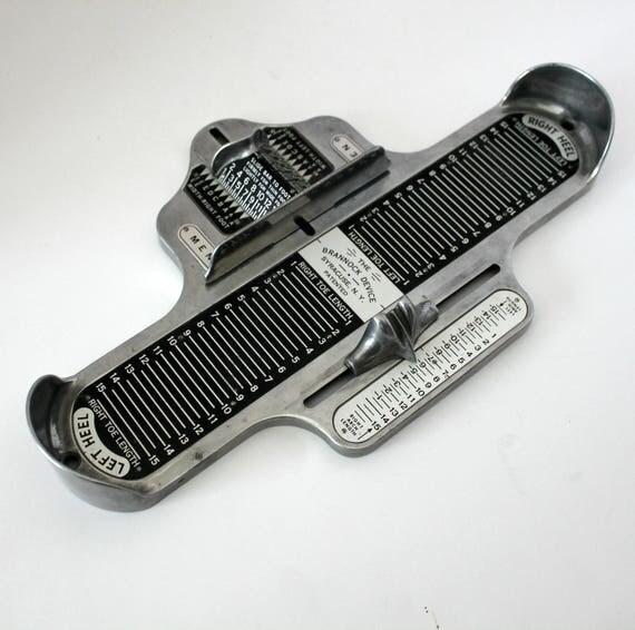 Brannock Device Mens Shoe Sizing Vintage Tool, Size 1 - 15, 3A-3E