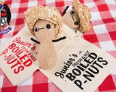 Boiled Peanut Southern style plush with hat and bag