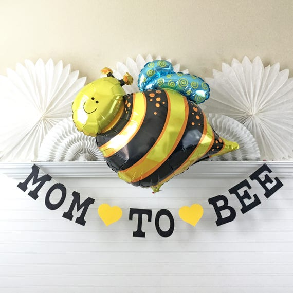 Mom To Bee Banner Balloon 5 Inch Letters Bee Baby Shower