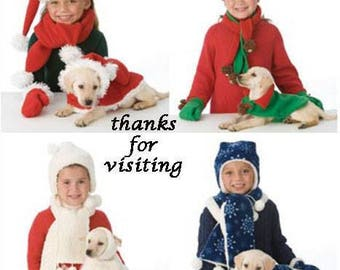 CHILD & DOG Sewing Pattern ~  Hat Scarf Mittens Pet Coats OOP