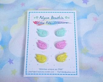 Fairy kei kawaii mini wings stud earring 3 set