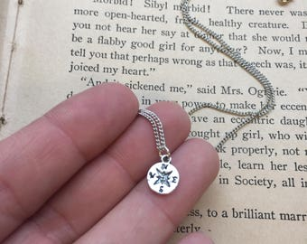 The Mattie Necklace - Tiny Compass Necklace