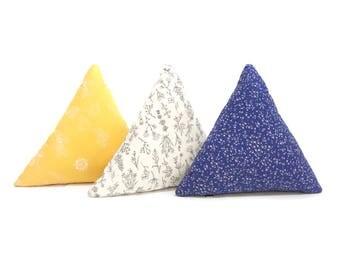 Triangle pillow, Geometric Pillow, Color Block triangle cushion, nursery pillow, lumbar pillow, modern nursery decor, geometric cushion
